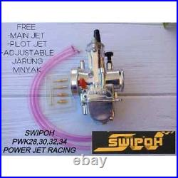 100% Brand New Swipoh Powerjet Racing Pwk Carburetor 28mm-34mm Universal