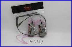 2 X Yamaha Banshee 34MM 34 Mil Larger Carbs Carburetors PWK + Vito's Thumb Cable