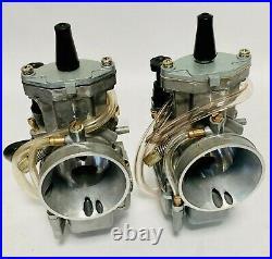 87-06 Banshee 34 mil PWK Style Carbs Carb Set Pair Flat Slide Carburetors