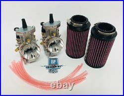 87-06 Yamaha Banshee 28mm 28 mi PWK Carburetor Carb Set Carbs Air Filters Filter
