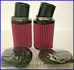 Banshee 28 PWK K&N Style Filters Filter Set w Pre Filters 28mm Keihin Carbs