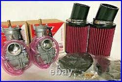 Banshee 28m Keihin PWK Carbs Carburetors GENUINE K&N Pod Style Air Filters