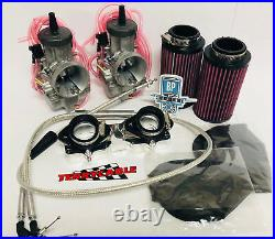 Banshee 28mm 28 Mil Genuine Keihin PWK Carbs Complete Carb Kit Manifolds Filter