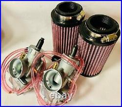 Banshee 28mm 28 Mil PWK Carbs Carb Kit Carburetor Complete Cable Manifold Filter