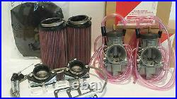 Banshee 350 33mm 33 Keihin PWK Dual Carb Carbs Kit Complete Intake Filters Boots