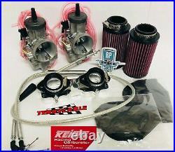 Banshee 35 mil Genuine Keihin Carbs 35mm PWK Carb Kit Complete Intake Cub Athena