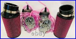 Banshee 35m 34mm PWK Style Flat Slide Carburetor Carb Carbs Filters Quad Vent