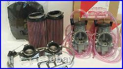 Banshee 35mm 35 Keihin PWK Air Strikers Kit Carbs Cable Manifold Filters Cable