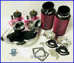 Banshee 38 mil Carbs Carb Kit Complete Genuine Keihin PWK 38mm Manifolds Filters