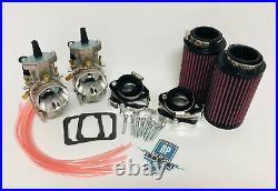 Banshee 38m 38 Mil PWK Carbs Carb Carburetors Billet Intake Manifold Set FIlters