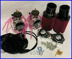Banshee Polished PWK Carbs 35 mil 35mm Complete Carburetor Kit Polish Genuine