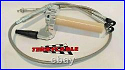 Banshee Terrycable Steel Braided Twist Throttle & Cable Keihin PWK Large Carbs