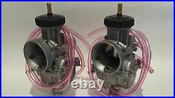 Keihin PWK 33 mil Carbs Carburetors Pair Set Terry Steel Throttle Cable Banshee
