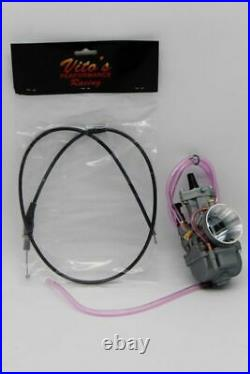 Yamaha Blaster 34Mm 34 Mil Larger Carb Carburetor Kit With Vito's Cable Pwk